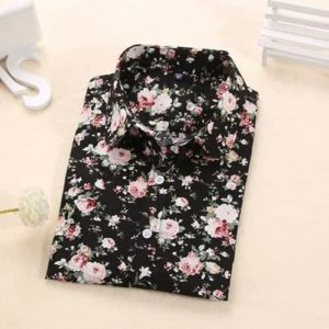 Dioufond Floral Blouse Long Sleeve