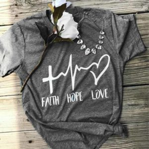 Faith Hope Love Short Sleeve Women T-Shirt