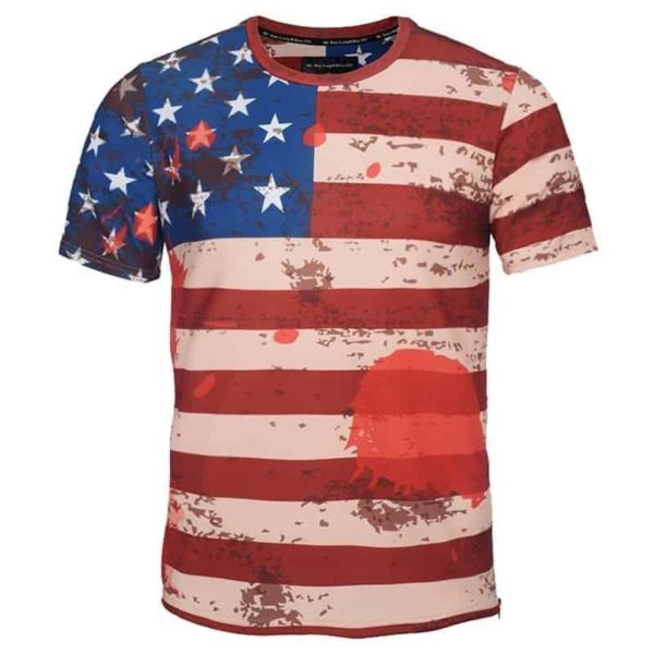 USA Flag Striped T-Shirt 2
