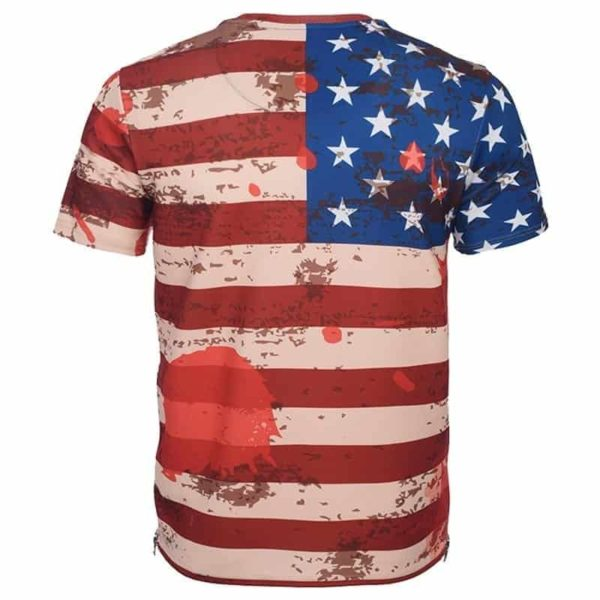 USA Flag Striped T-Shirt 3