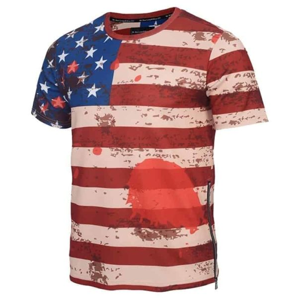 USA Flag Striped T-Shirt 1