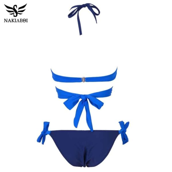 Womens Bikini Swimsuit Push Up Criss Cross Bandage Halter 5