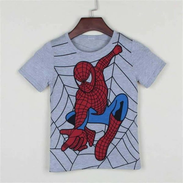 Spider Man Super Man Hero Cotton Kids T-Shirt 3