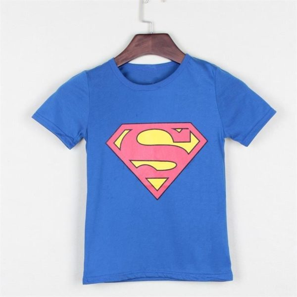Spider Man Super Man Hero Cotton Kids T-Shirt 5