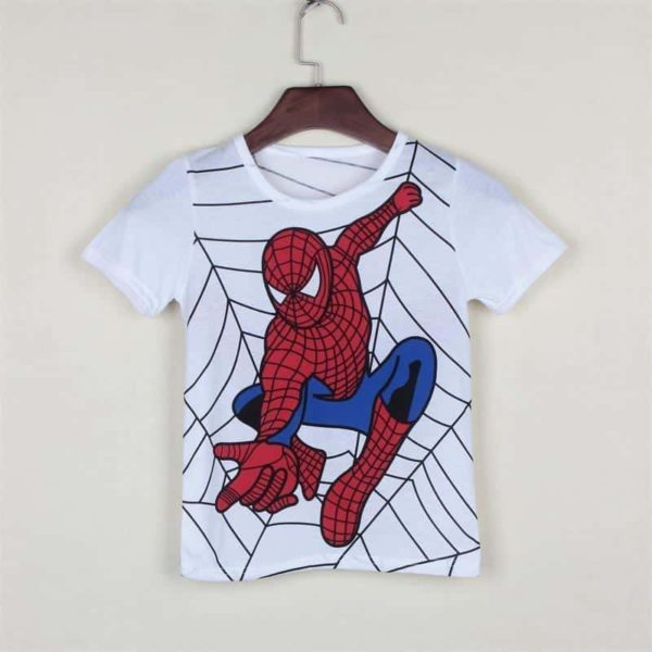 Spider Man Super Man Hero Cotton Kids T-Shirt 1