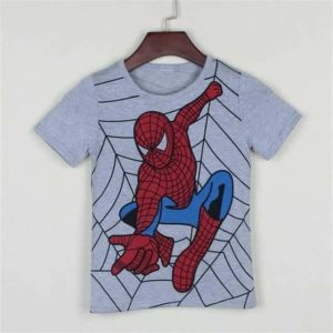Spider Man Super Man Hero Cotton Kids T-Shirt