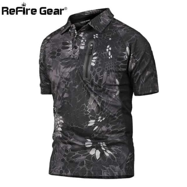 ReFire Gear Men's Tactical Camouflage Military Shirt