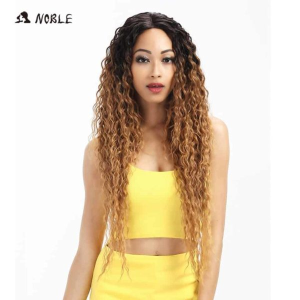 Noble Hair Lace Front Ombre Blonde Wig 1