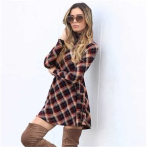 Plaid Dress Womens