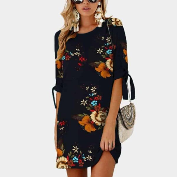 Short Sleeve Elegant Women Dress 1
