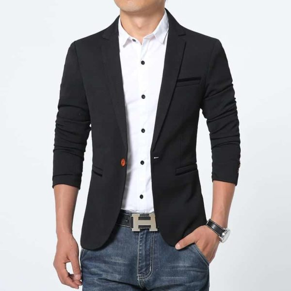 New Arrival Luxury Men Blazer Cotton Slim Fit 1