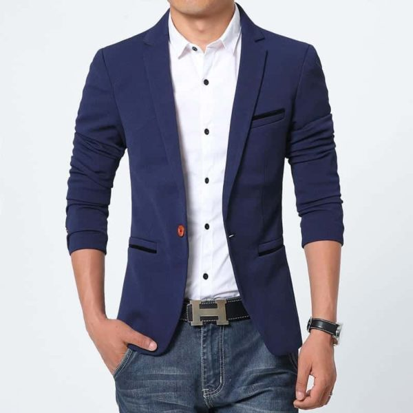 New Arrival Luxury Men Blazer Cotton Slim Fit 2