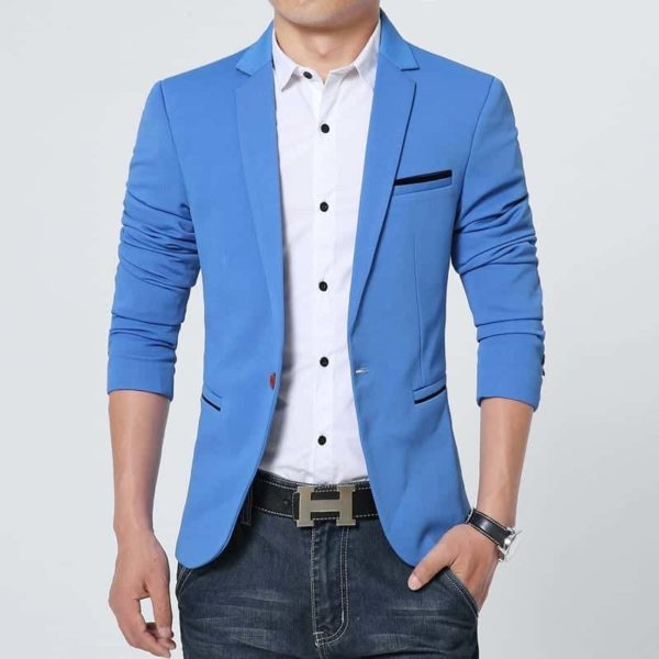 New Arrival Luxury Men Blazer Cotton Slim Fit 3