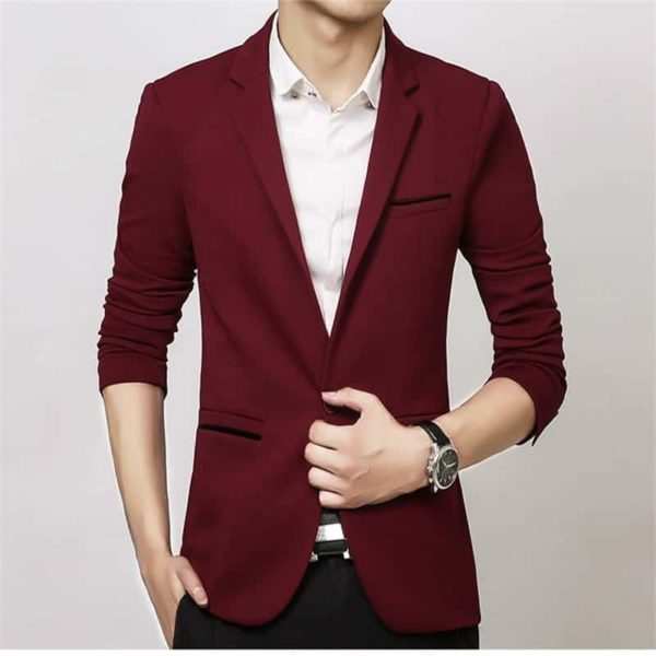New Arrival Luxury Men Blazer Cotton Slim Fit 4