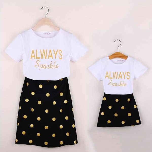 HE Hello Enjoy Mother Daughter Matching Clothes Sets 4