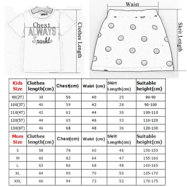 HE Hello Enjoy Mother Daughter Matching Clothes Sets 6