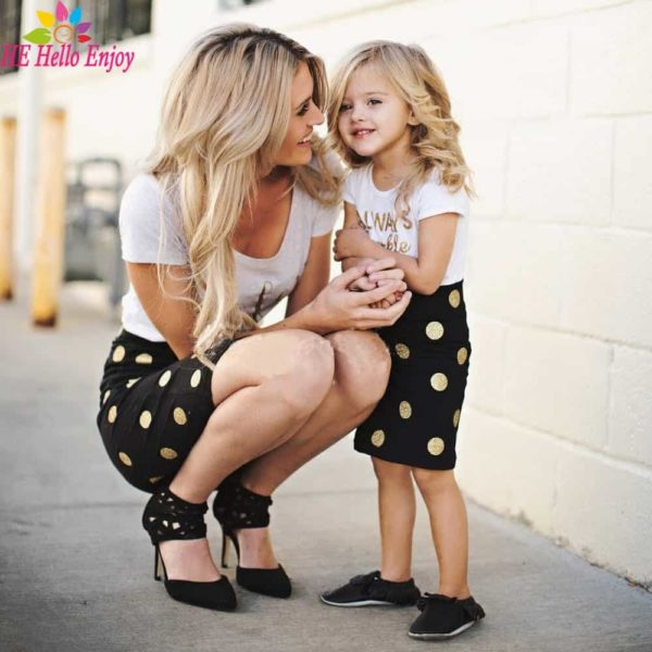 HE Hello Enjoy Mother Daughter Matching Clothes Sets 1