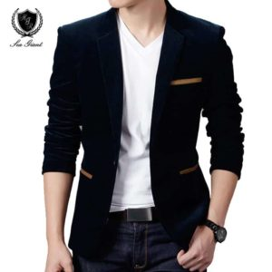 Fashion Brand Blazer British's Style Casual Slim Fit