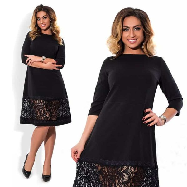 Hollow Out Plus Size Dress 3