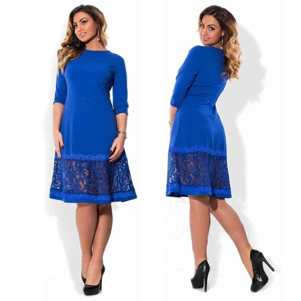 Hollow Out Plus Size Dress 1