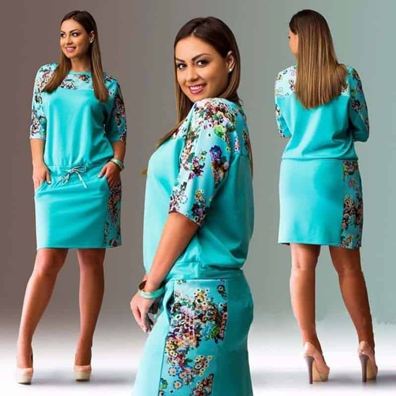 Straight Dresses Plus Size Women Clothing | Rhalyns