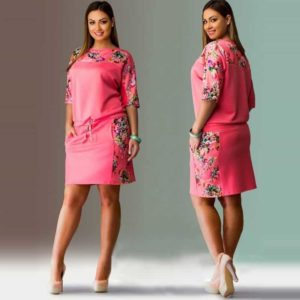 Straight Dresses Plus Size Women Clothing