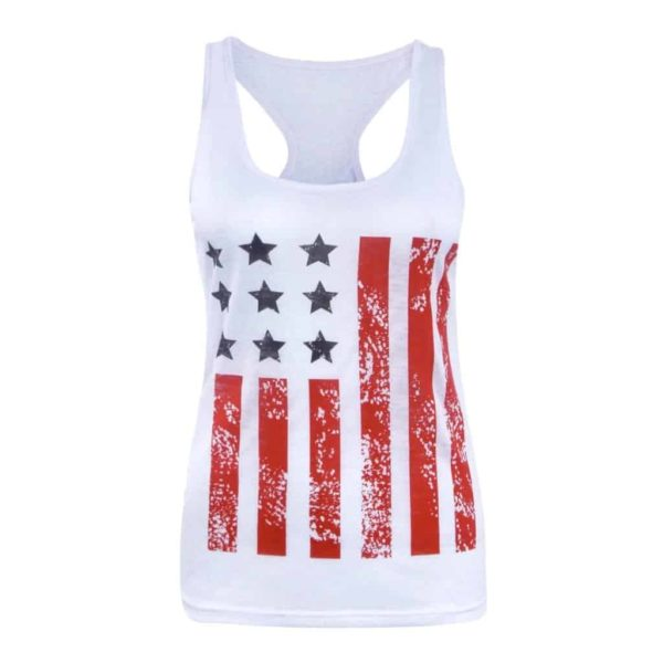 American Flag Star Striped Print O-Neck Short Sleeve 1