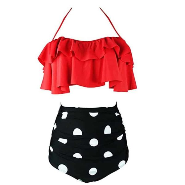 Two Piece Swimsuits High Waist 3