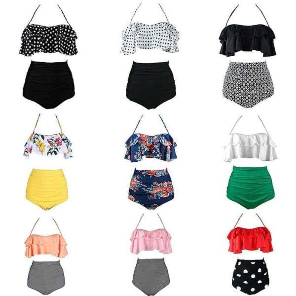 Two Piece Swimsuits High Waist