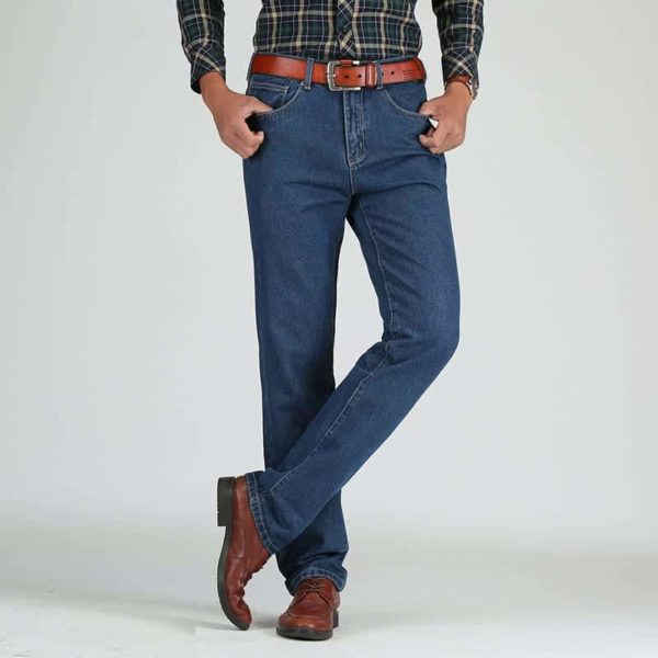 Cotton Straight Classic Denim Men Jeans 2