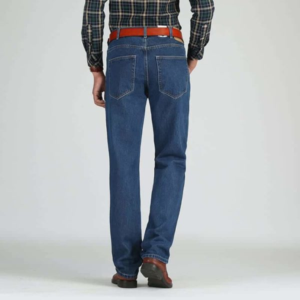 Cotton Straight Classic Denim Men Jeans 4