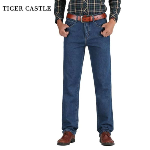 Cotton Straight Classic Denim Men Jeans 1