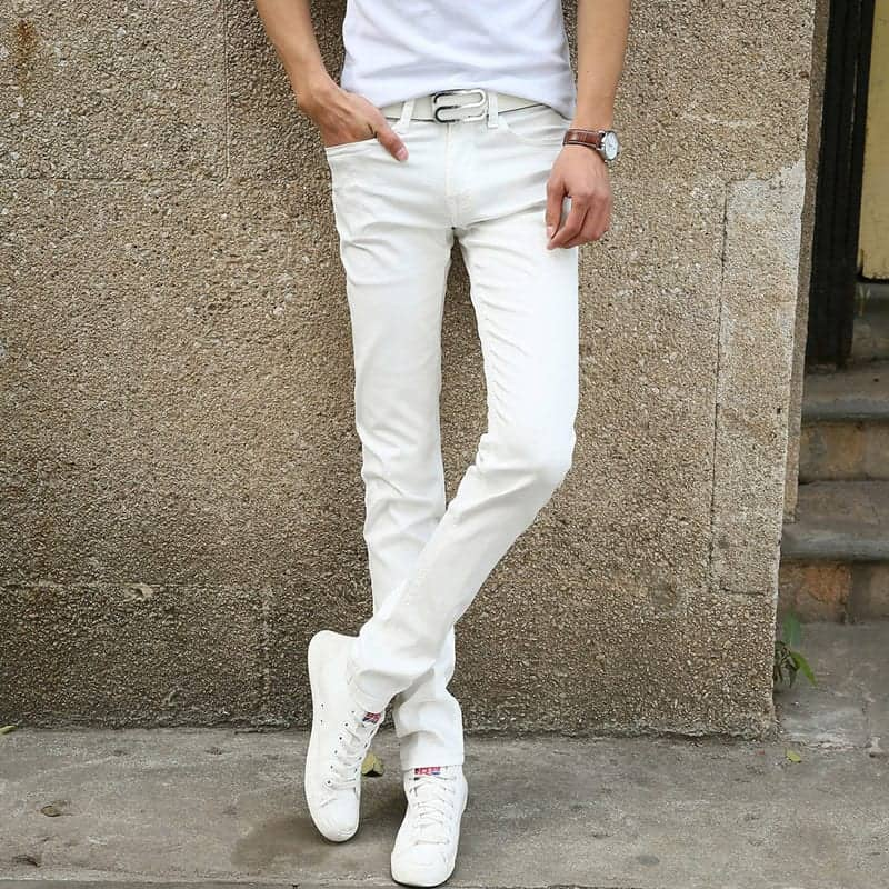 New Fashion Men S Casual Stretch Skinny Jeans Trousers Tight Pants