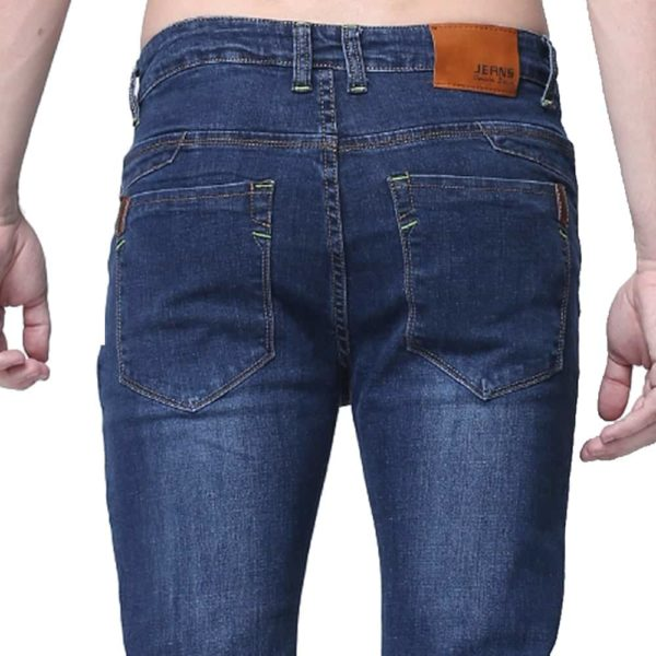 Casual Slim Fit Straight High Stretch Jeans 4