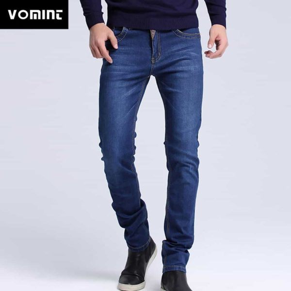 Casual Slim Fit Straight High Stretch Jeans 1