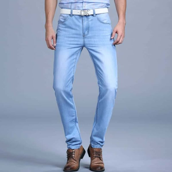 Men's Blue Fashion Jeans Pants 2