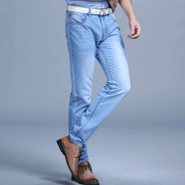Men's Blue Fashion Jeans Pants 4