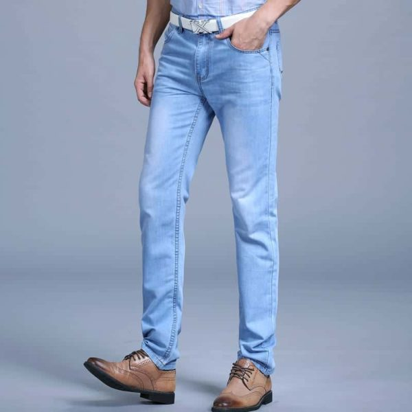 Men's Blue Fashion Jeans Pants 5