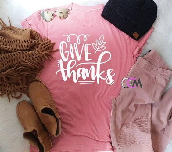 Give Thanks Women Casual T-Shirt
