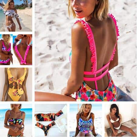 Hot Brazilian Sexy Print Bikinis Women Swimwear Push up Swimsuit 1