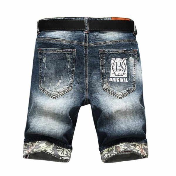 Hot Selling Summer Casual Thin Short Homme De Marque Mens Denim Shorts 2