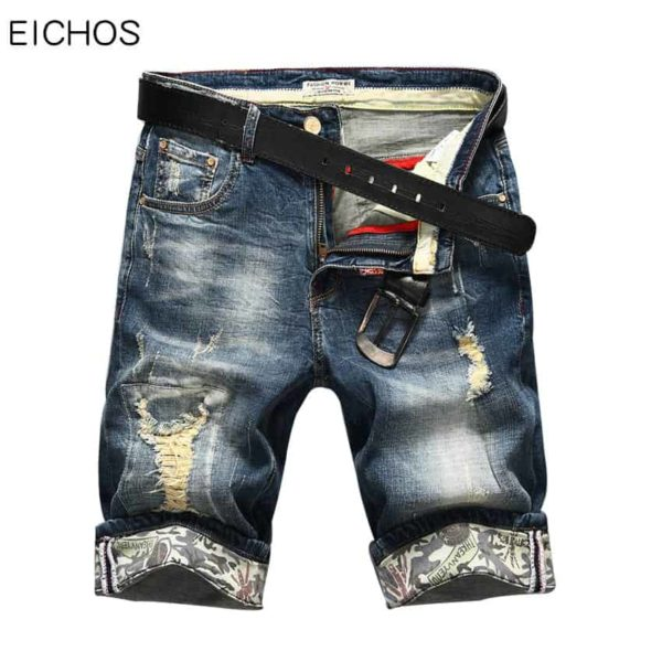 Hot Selling Summer Casual Thin Short Homme De Marque Mens Denim Shorts 1