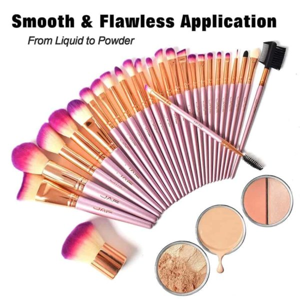 Gold Makeup Brush Set JAF 26 Pcs 2