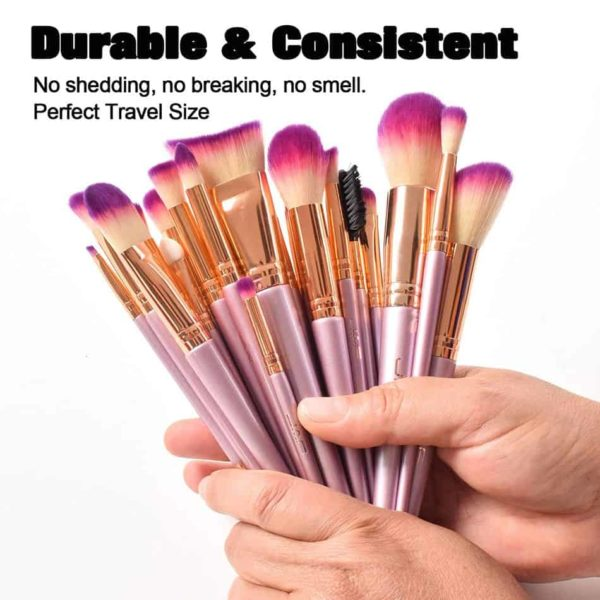 Gold Makeup Brush Set JAF 26 Pcs 3
