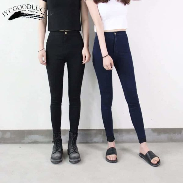 Jeans For Women Stretch Black Pants Skinny Women Jeans 2