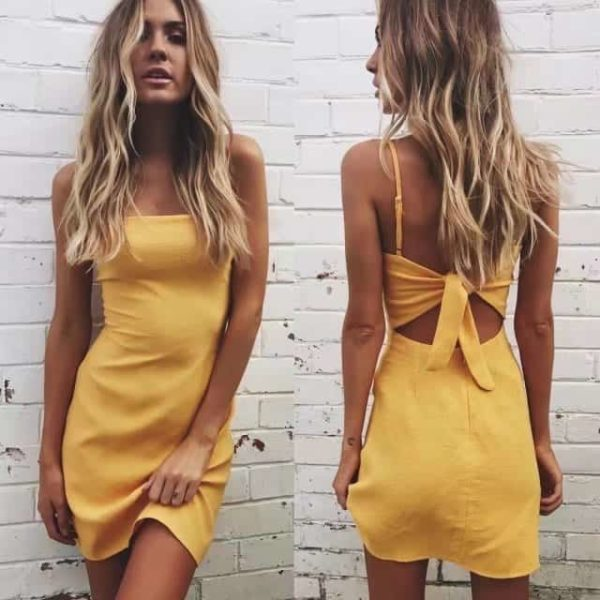 Backless Mini Dress 2
