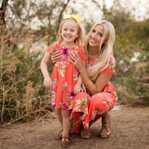 Mommy And Me Short Sleeve Dress