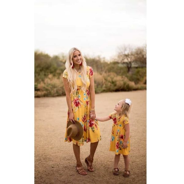 Mommy And Me Short Sleeve Dress 2