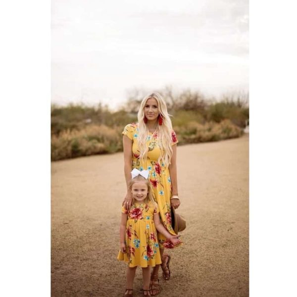 Mommy And Me Short Sleeve Dress 3