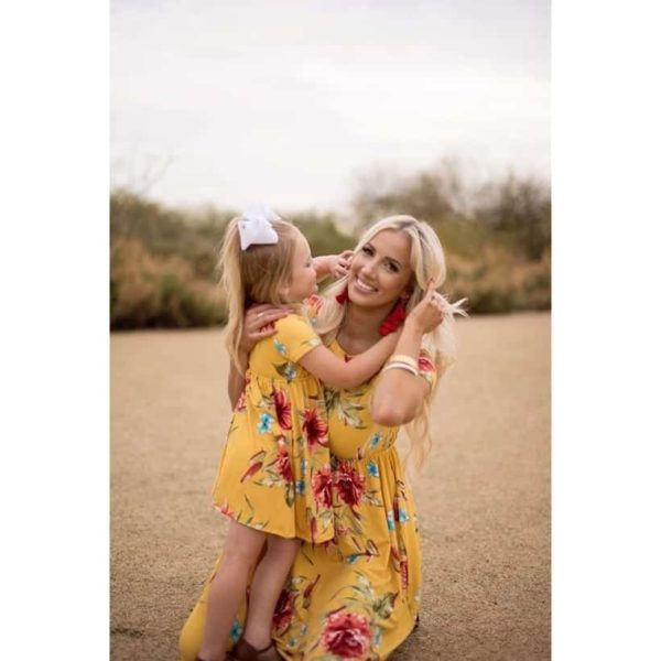 Mommy And Me Short Sleeve Dress 4